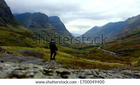 Glencoe valley mountain viewpoint, Scotland  #1700049400