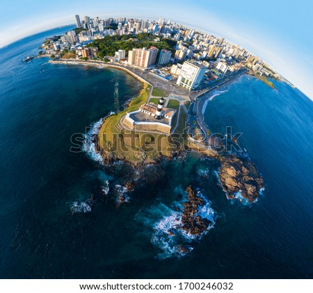 Aerial View of Salvador Bahia City and Lighthouse  #1700246032