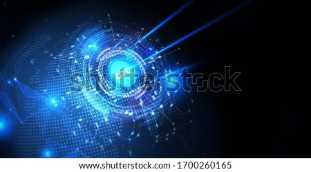 B2C Business to customer marketing strategy businessman pressing button on virtual screen. Business, TechnologIllustration. 3d rendering. y, Internet and network concept.  #1700260165