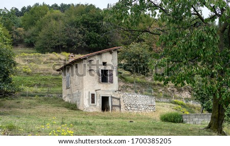 Traditional sheepfold in Tignale in Italy #1700385205