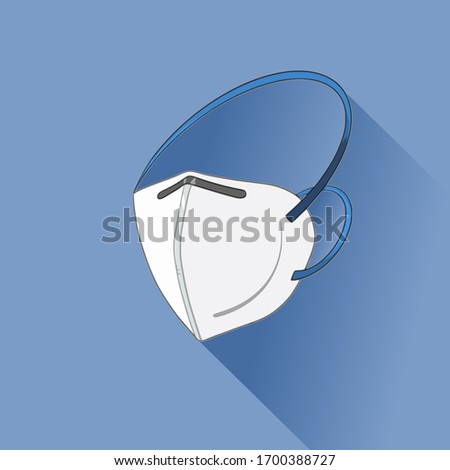 Face medical mask for safety COVID-19 (Coronavirus, pm 2.5 is white color mask. For banner, template, published, news. #1700388727