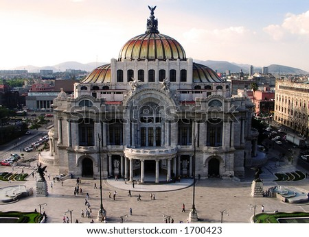Bellas Artes palace at Mexico City´s down town #1700423