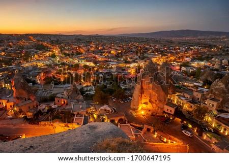 Night view of Goreme city in Cappadocia #1700647195