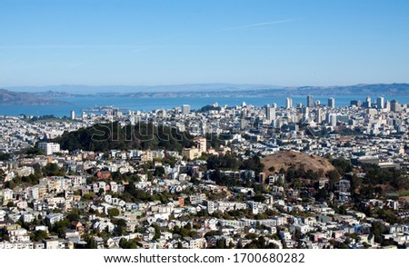 View from Twin Peaks, San Francisco, California