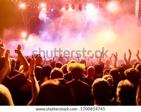 concert crowd at rock concert #1700814745