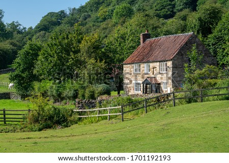 Country cottage in North Yorkshire, England Royalty-Free Stock Photo #1701192193