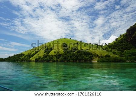 The beautiful view of labuan bajo archipelago, capture when sailing trip  #1701326110