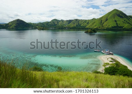 The beautiful view of labuan bajo archipelago, capture when sailing trip  #1701326113