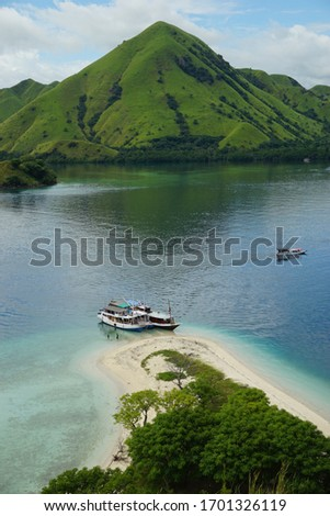 The beautiful view of labuan bajo archipelago, capture when sailing trip  #1701326119