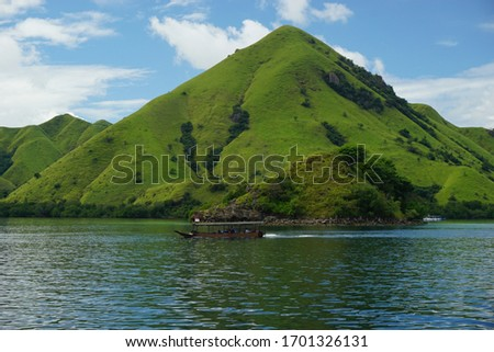 The beautiful view of labuan bajo archipelago, capture when sailing trip  #1701326131