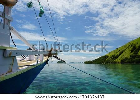 The beautiful view of labuan bajo archipelago, capture when sailing trip  #1701326137