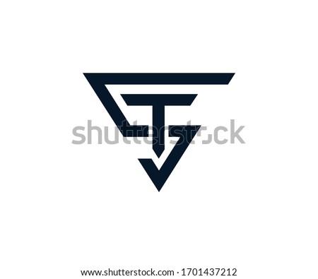 ST letter logo design vector Superman shape