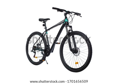 modern sports mountain bike isolated on white background #1701656509