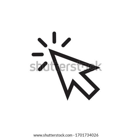 pointer icon. cursor icon vector illustration #1701734026