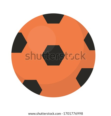 Ball football icon, flat, cartoon style. Isolated on white background. illustration, clip-art.