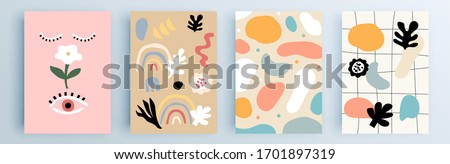 Modern abstract covers set, minimal covers design. Colorful geometric background, vector illustration. #1701897319