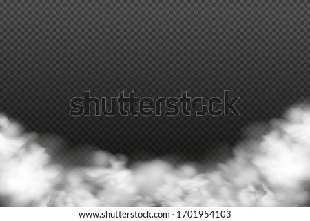 White vector cloudiness ,fog or smoke on dark checkered background.Cloudy sky or smog over the city.Vector illustration. #1701954103