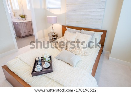 Beautiful and modern home and hotel bedroom interior design. #170198522