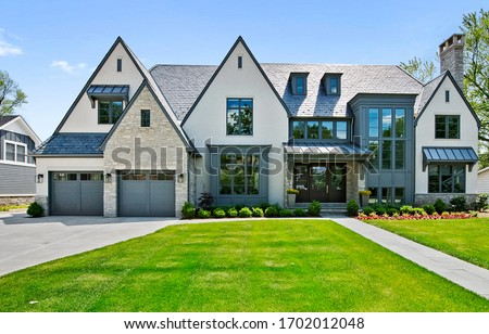 Real Estate Exterior Front House Royalty-Free Stock Photo #1702012048