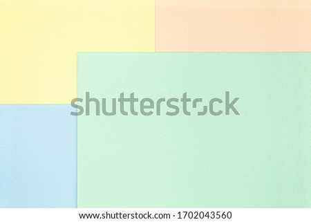 Pastel texture, rectangle space element for infographic. Template for presentation or background. 4 options, parts, steps or processes concepts with large green area.View from top, Flat lay, Copyspace