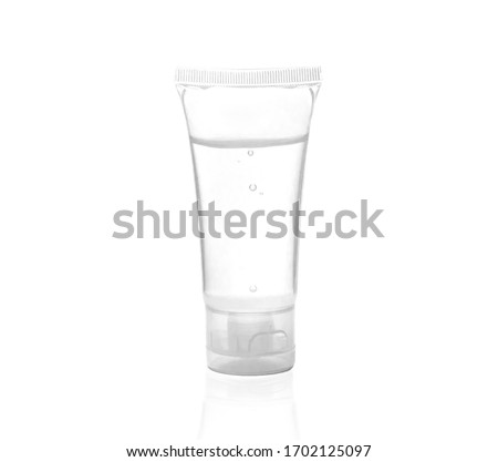 Alcohol gel tube for washing hands, prevent Covid-19 Royalty-Free Stock Photo #1702125097