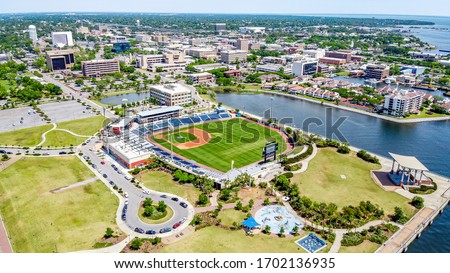 Downtown Pensacola, Florida. Blue Wahoos Royalty-Free Stock Photo #1702136935