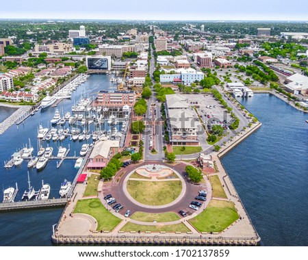 Downtown Pensacola, Florida. Palafox Street Royalty-Free Stock Photo #1702137859