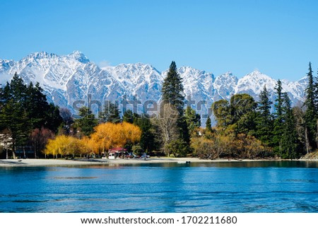 The picture of beautiful Queenstown New Zealand