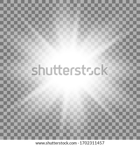 Light effects on a transparent background. Shine gradient glitter, bright flare. Sun texture. Vector illustration. #1702311457