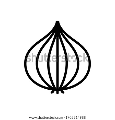 Vector line icon for onion Royalty-Free Stock Photo #1702314988