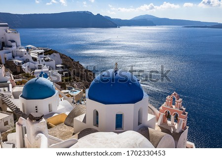 Santorini - the most beautiful island of the Cyclades in Greece