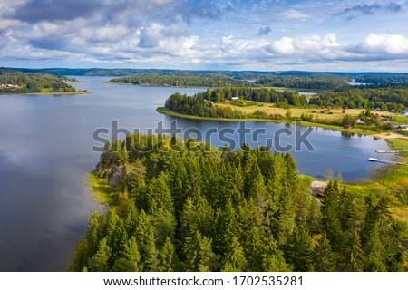 Karelia. Russia. Landscape of Lake Ladoga. Shkery Karelia. Northern nature. Russia day. Traveling on a yacht in Karelia. Helicopter excursions over Ladoga. Tourism in Russia. Rest on the lake #1702535281