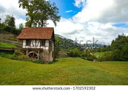 Watermill in the Black Forest in Germany Baden Württemberg
