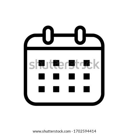 Calendar icon,vector illustration. Flat design style. vector calendar icon illustration isolated on White background, calendar icon Eps10. calendar icons graphic design vector symbols. Royalty-Free Stock Photo #1702594414