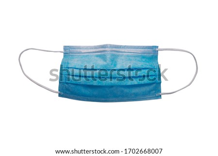 disposable medical mask on a white background #1702668007