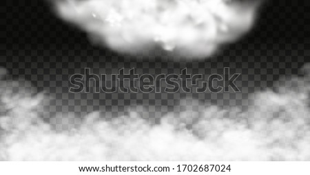 White vector cloudiness ,fog or smoke on dark checkered background.Cloudy sky or smog over the city.Vector illustration. #1702687024