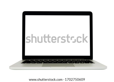 Isolated of laptop on white background. #1702750609