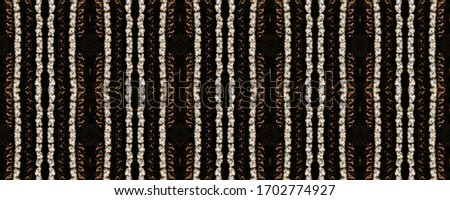 Seamless Ethnic Embroidery. Wicker Embroidery Brown Print. England Vintage. Art Strips Embroidered. Wicker Arabesque Macrame. Russian Geometric Motif. #1702774927