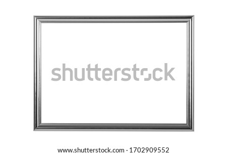 silver frame isolated with clipping path