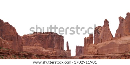 Park Avenue Viewpoint at Arches National Park (Utah, USA) isolated on white background #1702911901