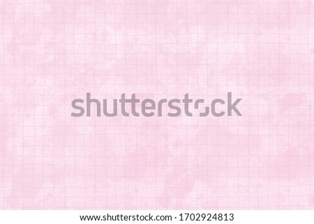 Pink squared paper or textured background. Vintage blank paper 300 dpi.