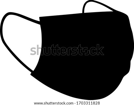 Face Mask vector black silhouette  vector silhouette isolated #1703311828