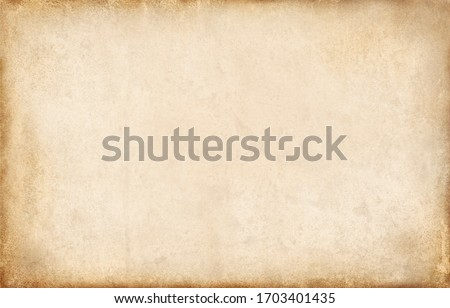 Old paper texture background, vintage retro newspaper empty blank space page with grunge stain line pattern for text creative, backdrop, wallpaper and any design Royalty-Free Stock Photo #1703401435