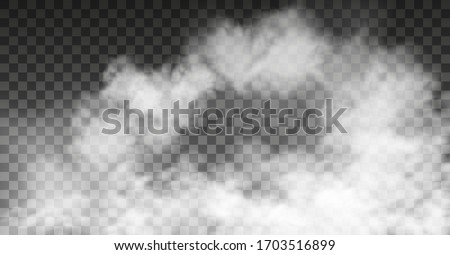White vector cloudiness ,fog or smoke on dark checkered background.Cloudy sky or smog over the city.Vector illustration. #1703516899