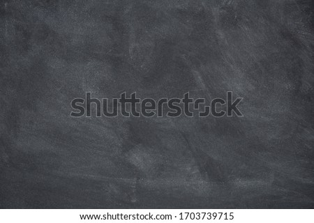 Chalk rubbed out on blackboard, chalkboard texture background copy space for add text and design Royalty-Free Stock Photo #1703739715