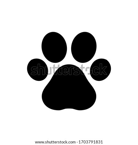 Paw print icon,vector illustration. Flat design style. vector paw print icon illustration isolated on White background, paw print icon Eps10. paw print icons graphic design vector symbols. #1703791831