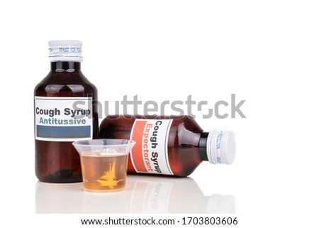 Antitussive and expectorant cough mixture is prescribed as medication for dry cough and chesty cough sickness respectively #1703803606