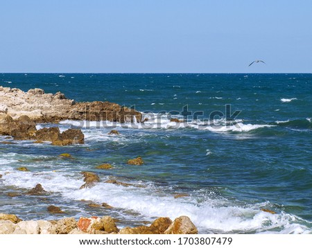 stones, waves and beautiful seascape #1703807479