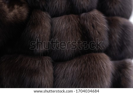 Fur texture close up. Woman in fur coat. Grey background. texture. Mink fur. mink coat. photo studio. Elegant outfit. Fashionable girl. Female fashion concept. City lifestyle. fur coat. no face #1704034684