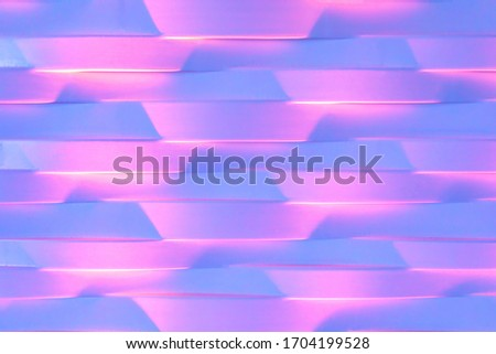 Abstract blurred soft focused futuristic geometric polygonal wavy background. Trendy neon pink and purple color concept